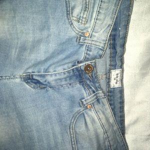 Denim - Blue ripped skinny jeans